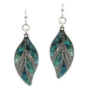 Abalone Leaf Hanging Fashion Earrings